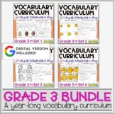 Vocabulary Curriculum Grade 3 Bundle   Distance Learning  