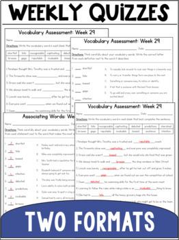 Vocabulary Curriculum Grade 3- Set Four