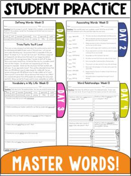 Vocabulary Curriculum Grade 3- Set Two
