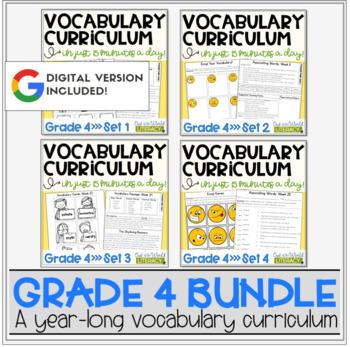 Vocabulary Curriculum Grade 4- Growing Bundle