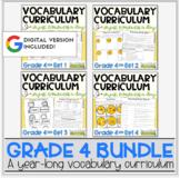 Vocabulary Curriculum Bundle Grade 4   Distance Learning  