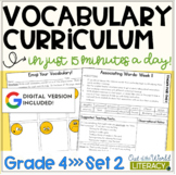 Vocabulary Curriculum Grade 4- Set Two   Distance Learning