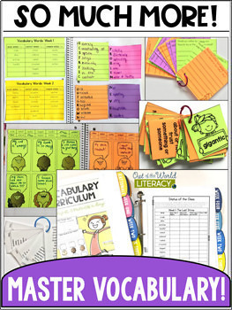 Vocabulary Curriculum Grade 5- Growing Bundle