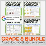 Vocabulary Curriculum Bundle Grade 5   Distance Learning  