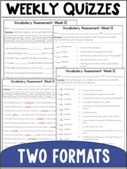 Vocabulary Curriculum Grade 5- Set 2