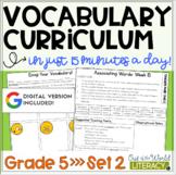 Vocabulary Curriculum Grade 5- Set 2   Distance Learning  