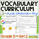 Vocabulary Curriculum Grade 5- Set 2 | Distance Learning |