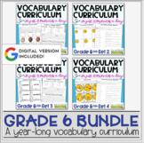 Vocabulary Curriculum Bundle Grade 6   Distance Learning  