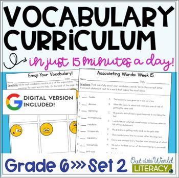 Vocabulary Curriculum Grade 6- Set 2