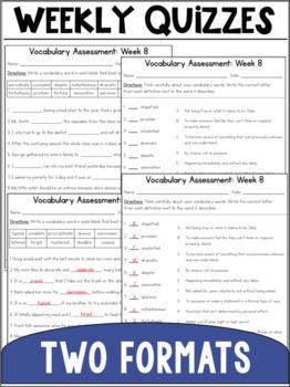 Vocabulary Curriculum Grade 7- Set One
