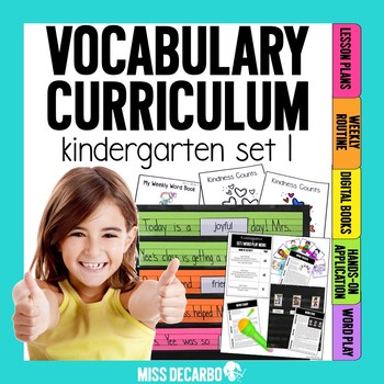 Vocabulary Curriculum Kindergarten Set 1