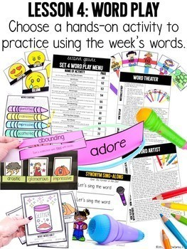 Second Grade Vocabulary Curriculum GROWING BUNDLE