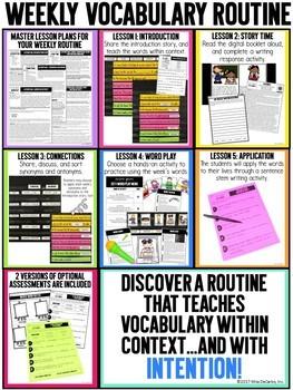 Vocabulary Curriculum Second Grade Set 1