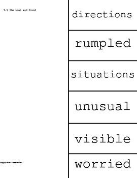 Vocabulary Cut Sheets