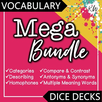 Vocabulary DICE DECKS Mega Bundle