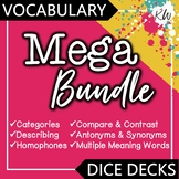 6 Vocabulary Games: Categories, Compare & Contrast, Antonyms & Synonyms BUNDLE