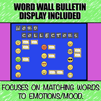 Vocabulary DIGITAL Interactive Notebook and Word Wall Bulletin Board (Emojis)