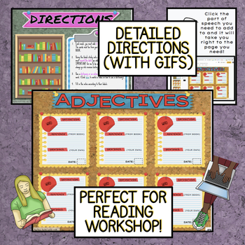 Vocabulary DIGITAL Interactive Notebook and Word Walls: Version #2