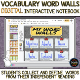 Vocabulary DIGITAL Interactive Notebook and Word Walls: Ve