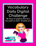Vocabulary Daily Digital Challenges