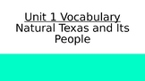 Vocabulary Definitions Unit 01 Natural Texas and Its People