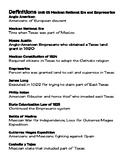 Vocabulary Definitions Unit 05 Mexican National Era and Em