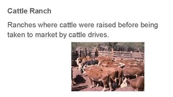 Vocabulary Definitions Unit 09 Cotton, Cattle, Rail Roads