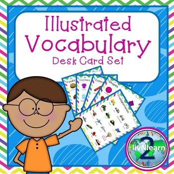 Illustrated Vocabulary Desk Card Set