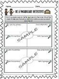 Vocabulary Detective Graphic Organizer