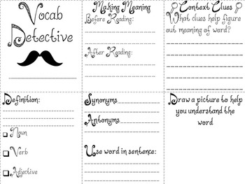 Vocabulary Detectives