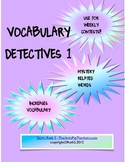 Vocabulary Detectives Task Cards 1
