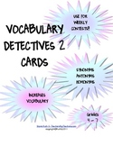 Vocabulary Detectives Task Cards 2 Synonyms, Homonyms, Antonyms