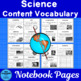 Vocabulary Development 30 Core Content Words Science Grade 3 Set 1 Color