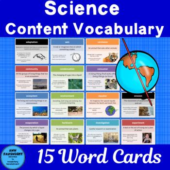 Science Content Vocabulary Grade 3 Set 1 Color
