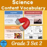 Science Content Vocabulary Grade 3 Set 2 Color