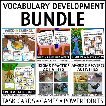 Vocabulary Development Activities Bundle