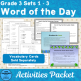 Vocabulary Cards Sets 1 - 3 Games and Activites Supplement