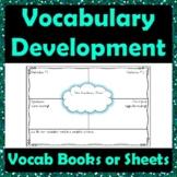 Vocabulary Development Graphic Organizer - Definitions Antonyms Synonyms