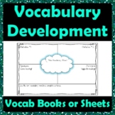 Vocabulary Development Graphic Organizer - Definitions Ant
