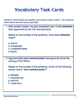 Vocabulary Development Practice for Elementary: I have who