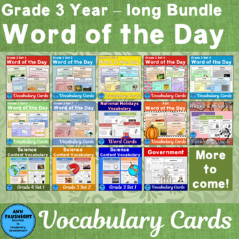Vocabulary Development Cards for the whole year