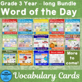 Vocabulary Cards for the whole year
