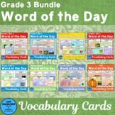 Vocabulary Cards Bundle Third Grade