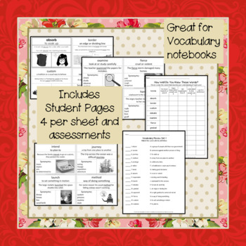 Vocabulary Development: Word of the Day Set 1 Third Grade