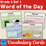 Vocabulary Cards Set 1 Third Grade