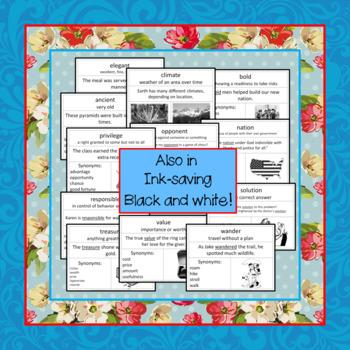 Vocabulary Cards Set 2 Third Grade
