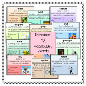 Vocabulary Cards Set 4 Third Grade
