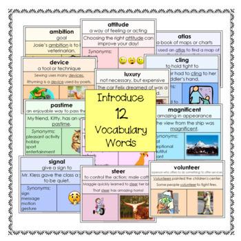 Vocabulary Cards Set 6 Third Grade