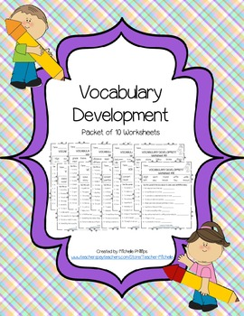 Vocabulary Development - Worksheet Packet (1-10)