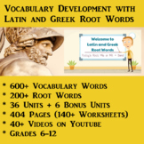 Vocabulary Development with Latin and Greek Root Words